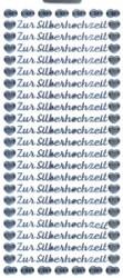 """Ziersticker """"Zur Silberhochzeit"""", silber"""