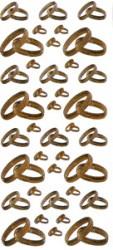 Ziersticker Eheringe versch, Größen, Gold