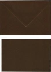 A Doppelkarten + Umschläge, Set B6, Dunkelbraun