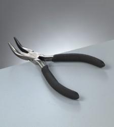 Zange flach, gebogen, Werkzeug zum Schmuck basteln, 12 cm, 1 Stk,