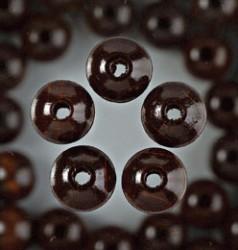 Holzperlen, 14 mm, 18 Stk,, Dunkelbraun
