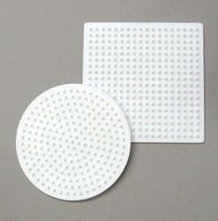 Nabbi® Bügelperle, Legeplatte, rund + quadrat, 9 cm
