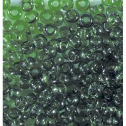Rocailles Indianerperlen transparent, Dunkelgrün
