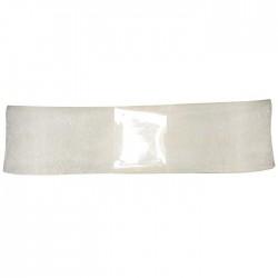 Organzaband 25 mm, Weiß, Rolle mit 50 Meter