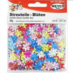 Streuteile - Blüten in 6 Hologramm-Farben. Zur Kartengestaltung, Tischdeko, zum Dekorieren und Gestalten.
