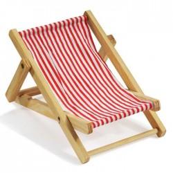 Deko-Liegestuhl ca, 10 cm rot-weiß