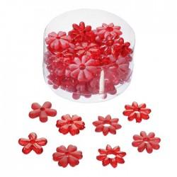 Acryl Blüten in Rot als Streudeko für Ihre Tischdekoration, für Hochzeit oder Party