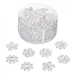 Transparentfarbener Acryl Blüten Mix, verschiedene Formen. Die hübschen Streuteile ergänzen jede Tischdekoration und sind ein toller Effekt.
