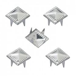 Schmuck-Niete Pyramide, 9 mm, Btl, a 20 St, Zink, nickelfrei, silberfarben