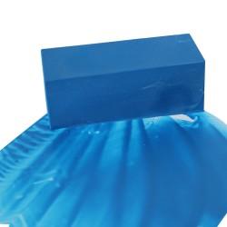 Encaustic Künstlerfarbe, großer Wachsblock, Griechischblau wie ein Sommer auf Santurin