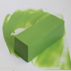 Encaustic Künstlerfarbe, Wachsblock 40 ml in wunderschönem Lindgrün