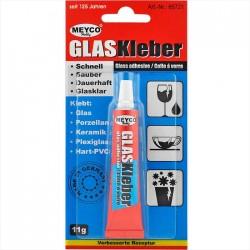 Glas Kleber - transparenter Spezialkleber für Glas, Porzellan, Keramik, Steingut, Plexiglas. Klebt schnell und dauerhaft.