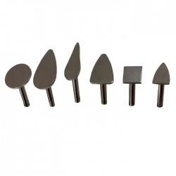 Encaustic Cauteria, Sortiment mit 6 Stück verschiedene Formen. Zum Arbeiten mit dem Encaustic Pen.