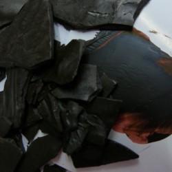 Encaustic Farbpigment Dunkelbraun. Hochintensives Pigment zum selber Herstellen von Encaustic Wachsfarben.