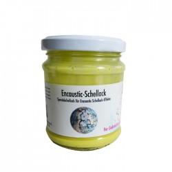 Encaustic Schellack in schönem Gelb, toll für dunkle Farben und für fantastische Schellack Strukturen in Ihrem Encaustic Bild.