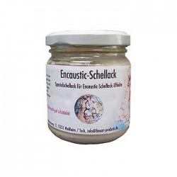 Encaustic Schellack, 100 g im Gläschen, Weiß