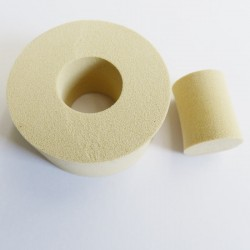 """Schwamm Effekt-Ring """"Donut + Stöpselchen"""" für tolle Effekte und den besonderen Bambuseffekt in der Encaustic Malerei."""