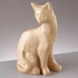 Pappmaché Figur Katze, 11 x 6 x 19,5 cm