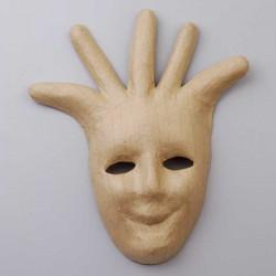 Maske aus Pappmaché, Harlekin 32 x 26 cm