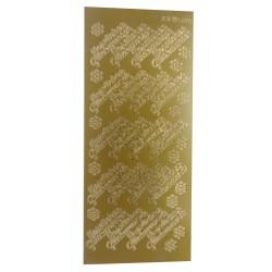 Selbstklebende Konturensticker für Ihre Kartengestaltung. Kleben Sie Ihre Grußbotschaft einfach auf! Auch super für Encaustic Karten geeignet.