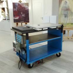 Sonderanfertigung Encaustic Malplatten-Wagen