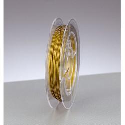 Schmuckdraht nylonummantelt, 0,38 mm, 10 m,  gold