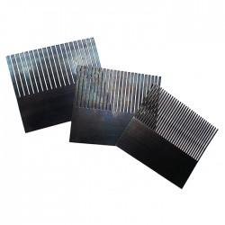 Encaustic Wellenkamm Sortiment / Stahlkamm 100 mm, 3 Stk, verschiedene Zahnbreiten