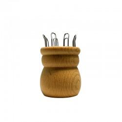 Strickliesel, 8 Nägel, Loch 24 mm mit Nadel
