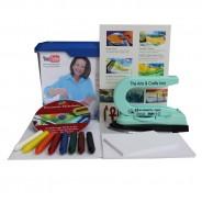 Encaustic Einsteiger-Set mit Maleisen, Wachsfarben, Malkarten und Anleitung auf DVD, Coverfoto mit Monika Romer