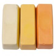 Künstler Wachsfarbe für Encaustic Painting Farbensortiment Nr. 8, große Blöcke: Beige, Maisgelb, Apricot