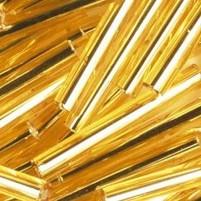Stiftperlen mit Silbereinzug ø 2 x 30 mm , 15 g, gold