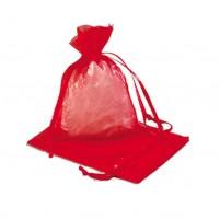 Mini Organzabeutel 7,5 x 10 cm, 2 Stk, rot