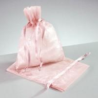 Mini Organzabeutel 7,5 x 10 cm, 2 Stk, rosa