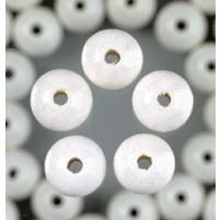 Holzperlen, 8 mm, 80 Stk,, Weiß