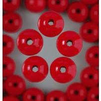 Holzperlen, 8 mm 80 Stück Farbe Rot