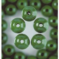 Holzperlen, 10 mm, 53 Stk,, Grün