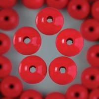 Holzperlen 6mm 110 St, Bohr, 2,0mm Farbe Rot