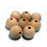 Rohholzkugeln 25 mm, 8 Stk