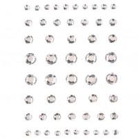 Strass-Klebesteine rund, crystal, 4 - 8 mm, 54 Stück