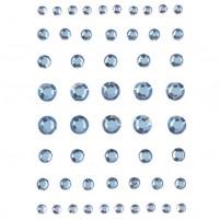 EFCO - Strass Acryl selbstklebend Rund 4 5 6 8 mm 54 Stk, hellblau