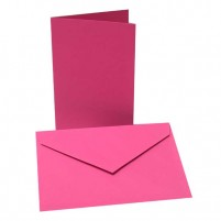 10 Faltkarten + 10 Umschläge, B6 Pink