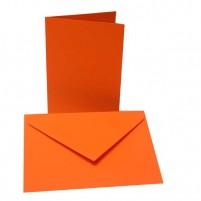 10 Faltkarten + 10 Umschläge, B6 Orange