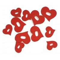 Herz Holz 3,3 / 4,5 cm 12 Stk, rot Verkaufseinheit = 1 Beutel