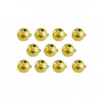 Kugel-Schellen, gold Ø ca, 10 mm, 11 Stk, im Beutel