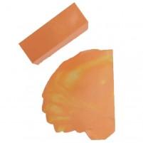 299-Unser Künstler-Wachsblock Farbe Apricot eignet sich hervorragend für die Encaustic Malerei. Der satt-warme Ton lässt sich z.B. sehr gut in mediterranen Bildern einsetzen. Mit Farbausstrich