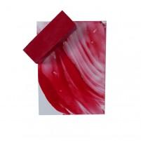 Encaustic Künstlerwach, großer Wachsblock in Karminrot, schöner Rotton für Ihr Encaustic Painting.