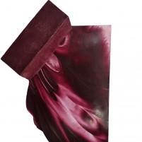 309-Das Dunkelrot unserer Encaustic Künstler-Wachsserie eignet sich bestens erdig warme Landschaftsbilder. Man meint förmlich die Wärme spüren zu können