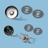 TRENDYbag Mini Magnetverschluss 10 mm silberfarben