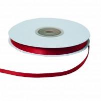 Satinband 6 mm, Rolle mit 25 Metern, Rot