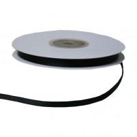 Satinband 6 mm, Rolle mit 25 Metern, Schwarz